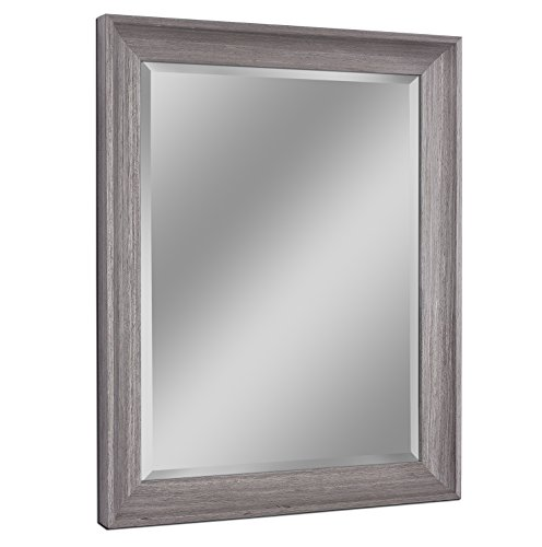 Headwest 8004 Transitional Driftwood Wall Mirror in Light -