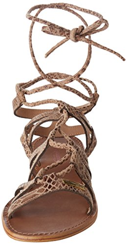 Les Tropéziennes par M. Belarbi Hercule, Sandalias con Correa de Tobillo Para Mujer Beige (Serpent Beige)