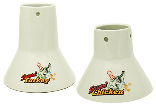 Cook's Choice Beer Can/Marinade Sittin' Chicken and Turkey Combo Steamers (Beer Can Cooker compare prices)