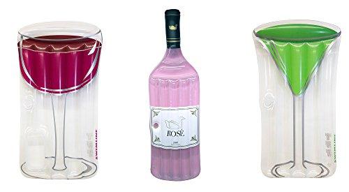 Swimline Inflatable Wine Bottle and Cocktail Drinks Adult Pool Float (Rose Wine Bottle)