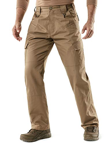CQR Men's Tactical Pants Lightweight EDC Assault Cargo, Duratex(tlp106) - Coyote, 36W/30L