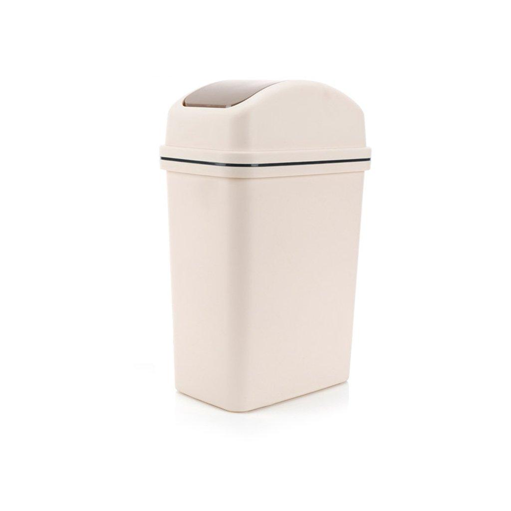 LVAB Mülleimer- Mülleimer Rechteckig Shake Das Bad Wohnzimmer Schlafzimmer (Farbe : Gray, größe : 6L)