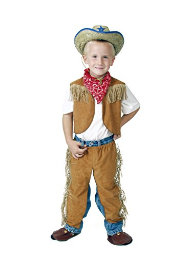 Boys Brown Size 2/4 Western Dressup Halloween Costume Cowboy Set - no hat (Halloween Costumes Cowboy)