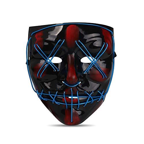 Seemaxs LED Light Up Mask Perfect for Halloween 2019 Costume Festival (Blue) (Best Halloween Masks 2019)
