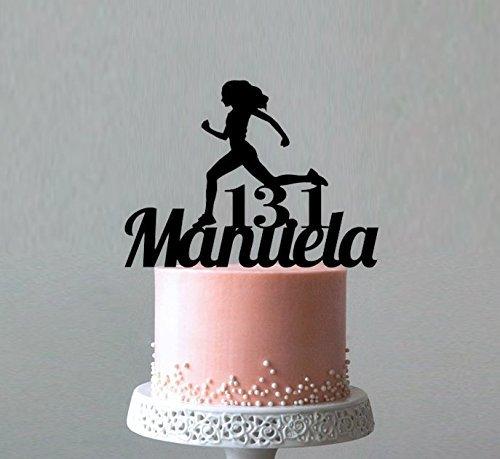 Amazon Runner Cake Topper Cross Country Keepsake 262 Marathon Gifts 131 Half Finisher Birthday Custom Name Gift For