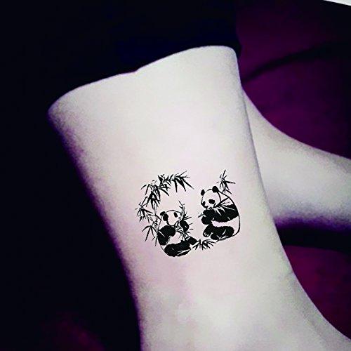 TAFLY Cartoon Cute Emotion Chinese Panda Temporary Tattoo Sticker Body Art Water Transfer Fake Tattoos 5 (Chinese Tattoo)