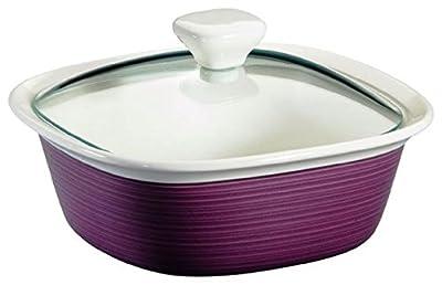 Eggplant 1-1/2-qt Oblong Baker w/ Glass Lid