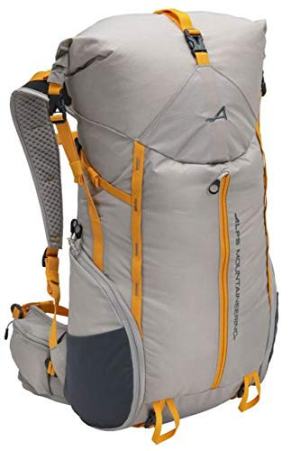 - ALPS Mountaineering Tour Day Backpack 35-45L, Gray/Apricot