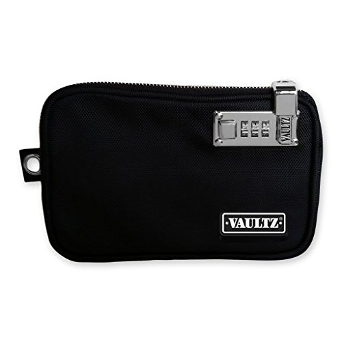 Vaultz Locking Tool Pouch with Tether, Extra Large, 12 x 18 Inches, Black (VZ00728) ()