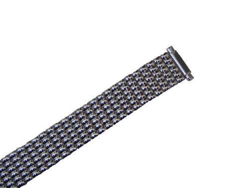 Timex Ultra-Flex Expansion Watchband Silver Tone fits 10mm to 14mm (Expandable Watch Band)