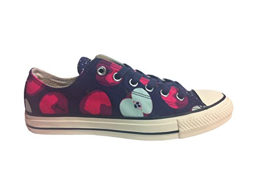 CONVERSE Chuck Taylor All Star Apple Print Ox Fashion Sneaker Shoe – Eggplant/Neo Pink – Womens – 9.5