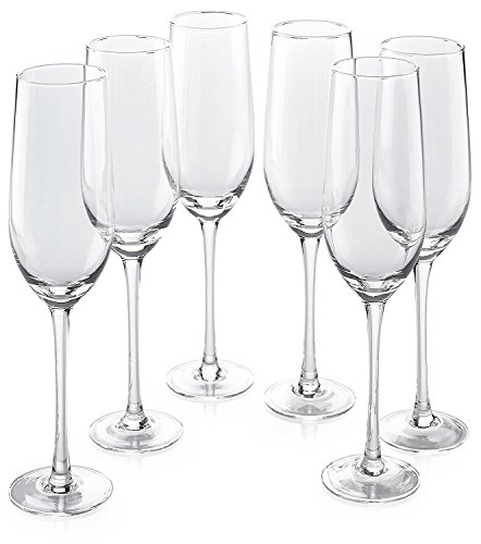 (Classic Flute Champagne Glasses (10 Ounce) - Toasting Sparkling Wine/Wedding Flutes)