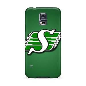 Samsung Galaxy S5 INM14302LlUO Customized HD Saskatchewan Roughriders Pattern Durable Hard Cell-phone Case -JamieBratt