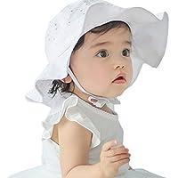 Floralby Kids Baby Girls Sun Hat Cap Summer Outdoor Beach Cotton Hat Wide Brim Sun Protection