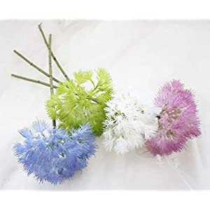 Lily Garden 17 Inch Dandelion Artificial Flowers Set of 6 3