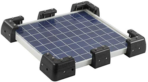 Sunway Solar Panels Drill-Free Mounting Brackets Corner Mount Supporting for RV Caravan Boat Camper Trailer Marine Motorhome House Roof Installation,Compatible for All Framed Solar Panel (Solar Panel Roof Mounting)