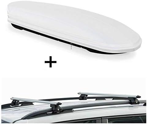 Skibox MAA460W weiß + Alu Relingträger VDPCRV120 Hyundai i30 I Kombi 08-12