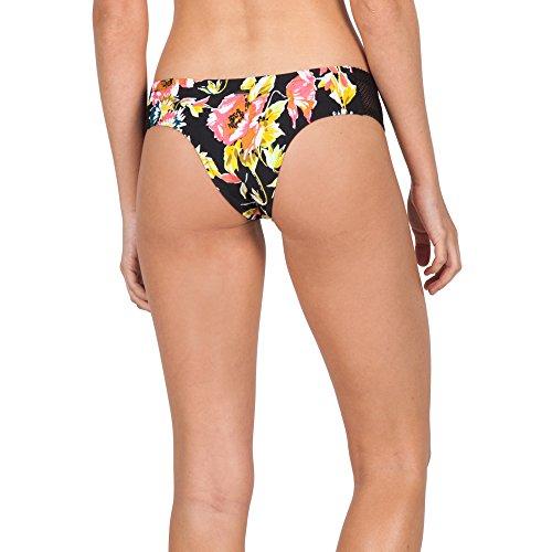 Volcom Women's Wild Buds Cheeky Bikini Bottom, Black, Small