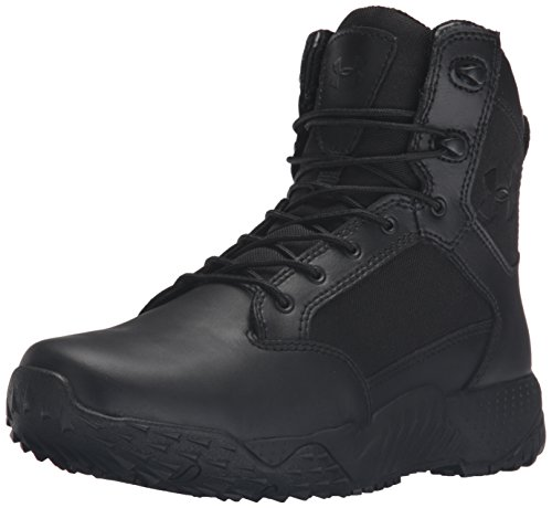 Under Armour Women's Stellar Military and Tactical Boot, Black (001)/Black, 8