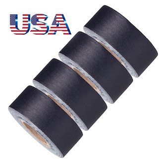 Gaffer Duct Tape (Mini Gaffer Tape Rolls by GafferPower 1 inch x 8yards - Pack of 4 Black, Made In The USA, Heavy Duty Gaffer's Tape, Strong Tough Compact Lightweight, Multipurpose Better than Duct Tape)