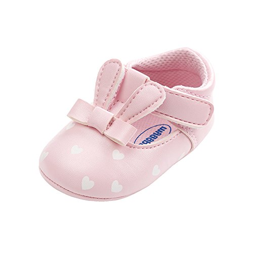 Save Beautiful Meckior Infant Baby Girls Sandas Summer Soft Leather No-Slip Princess Shoes (6-12 Months, B-Pink)