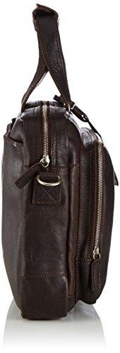 Cowboysbag Bag Bude - Bolso de mano de cuero Unisex adulto marrón - marrón (marrón 500)