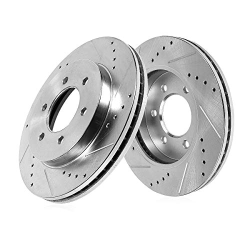 Callahan CDS03571 FRONT 291mm Drilled & Slotted 6 Lug [2] Rotors [ Toyota 4RUNNER T100 ]