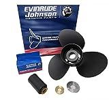 """Johnson Evinrude E-Tec 3 Blade Aluminum V-4 Prop Propeller 13 1/4"""" x 17"""" 765183"""