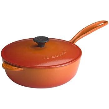 Le Creuset Enameled Cast-Iron 2-1/4-Quart Saucier Pan, Flame