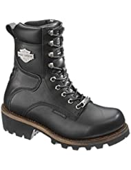 Harley-Davidson Womens Tyson Black Motorcycle Riding Boots - D87016