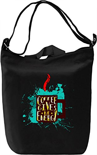 Coffe Gives Me Energy Borsa Giornaliera Canvas Canvas Day Bag| 100% Premium Cotton Canvas| DTG Printing|