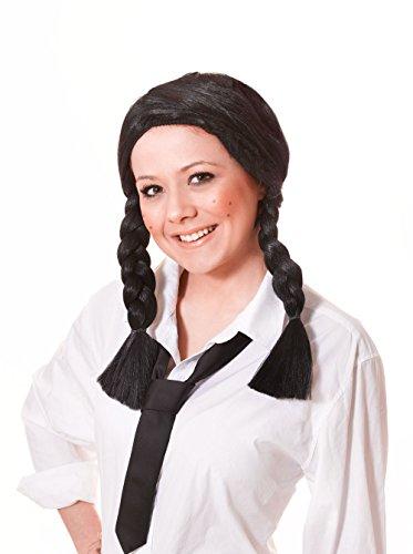 Bristol Novelty BW040 Schoolgirl Wig Black, One Size