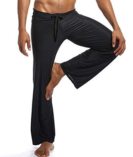 in fatto Sexy da casa Yoga nero seta di Abbigliamento uomo la tessuto Pantaloni casa per Ice IOxq0x7