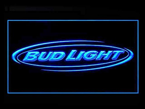 Bud Neon Light - Bud Light Beer Bar Budweiser Led Light Sign Blue