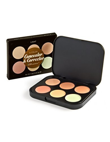 BH Cosmetics 6 Color Concealer & Corrector Palette, Light by BH Cosmetics