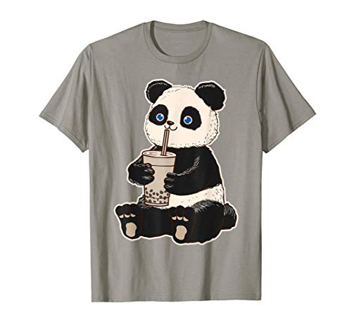 (Panda Bear Bubble Tea Boba T Shirt Animal Drink Giant Gift)