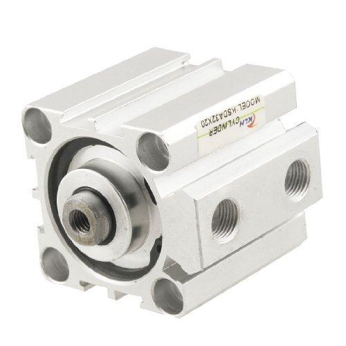 EbuyChX SDA32x20 32mm Bore 20mm Stroke Single Rod Aluminum Alloy Air Cylinder ()