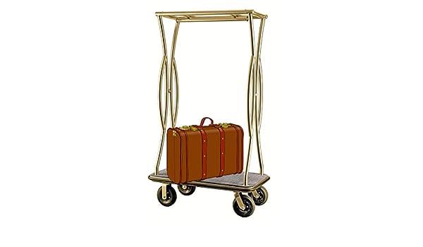 Equipaje carrito transportador Hotel coche maleta coche furgoneta dorado gris: Amazon.es: Hogar