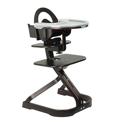 Svan Wooden High Chair with Removable Tray, Espresso