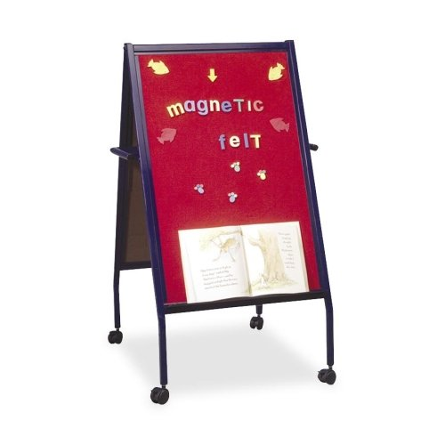 Balt Double-Sided Easel with Wheels, 2-Inch, Blue -