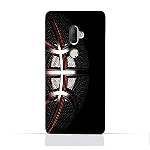 AMC Design Alcatel 3V TPU Silicone Protective Case with Basketball Texture Pattern