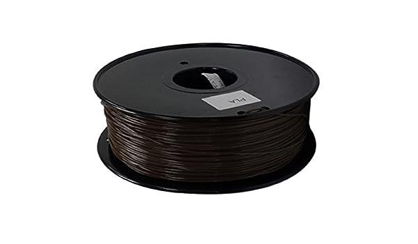 3d impresora filamento 1.75 mm PLA 1 kg bobina (café): Amazon.es ...