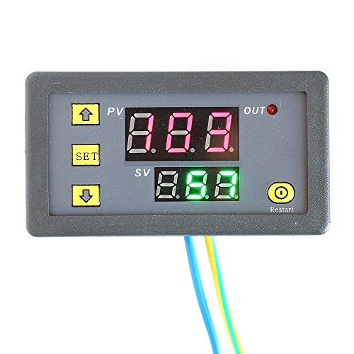 DC12V 1500W 0-999H Digital Display Time Delay Relay Timer Cycling Module S60