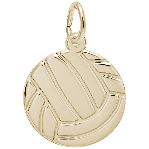 Rembrandt Charms, Volleyball, 14K Yellow Gold, Engravable 14k Yellow Gold Volleyball Charm