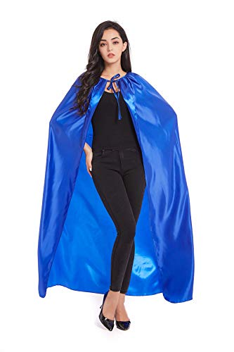 Crizcape Adults Capes Womens and Mens DIY Dress up Costume Capes for Party Blue]()