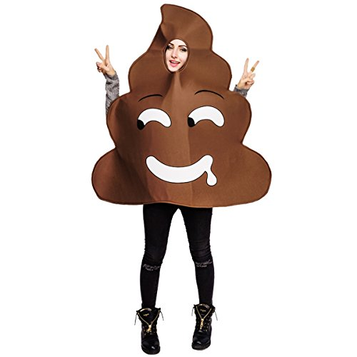 flatwhite Adult Unisex Emoticon Costumes Poop One Size Fit All (One Size, Evil) -