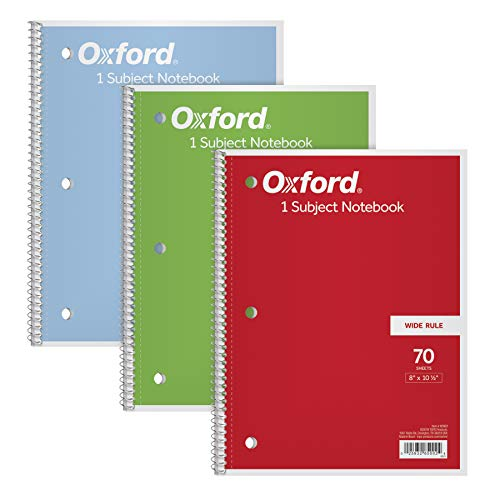 TOPS/Oxford 1-Subject Notebooks, 8