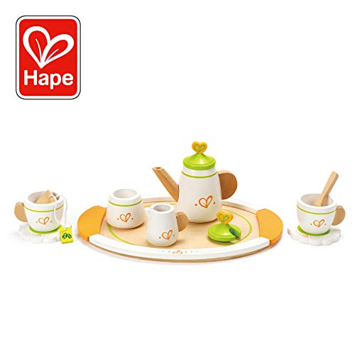 Hape Tea for Two Wooden Play Kitchen Accessory Kit (Best Price On Fiestaware)