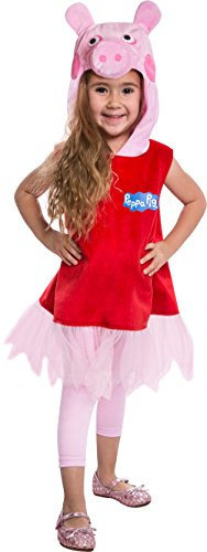Peppa The Pig Costume (Peppa Pig Deluxe Dress Costume, 2T)