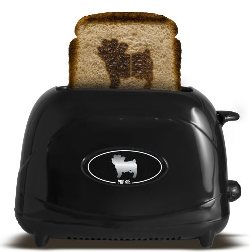 Pangea Brands TSTE-PET-YORK 2-Slice Pet Emblazing Toaster, Yorkshire Terrier